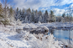 Clearing Skies at Sporstman Pond after Early Spring Snowfall, Fitzwilliam, NH