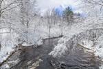 Shaker Brook after Early Spring Snowfall, Marlborough, NH