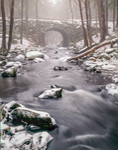 Keystone Bridge over Middle Branch of Swift River in Winter, Quabbin Reservation, New Salem, MA