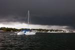 Threatening Thunderclouds over Pine Island Marina, Pine Island Bay, Groton, CT