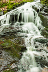 Waterfalls on Galloway Brook at Cook's Canyon Wildlife Sanctuary, Massachusetts Audubon Society, Barre, MA