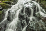 Close Up of Waterfalls on Galloway Brook at Cook's Canyon Wildlife Sanctuary, Massachusetts Audubon Society, Barre, MA