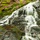 Waterfalls on Galloway Brook at Cook's Canyon Wildlife Sanctuary, Massachusetts Audubon Society, Barre, MA