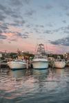 Sunset over Boats in Oak Bluffs Harbor, Martha's Vineyard, Oak Bluffs, MA