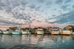 Sunset over Boats in Oak Bluffs Harbor, Martha's Vineyard, Oak Bluffs, MA