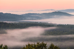 Ground Fog over Mountains and Forests at Sunrise, Huckle Hill Property, Bernardston, MA