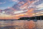Sunrise over Boats in East Greenwich Cove off Narragansett Bay, East Greenwich, RI