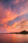 Colorful Sunset at Point Judith Pond, Plato Island, South Kingstown, RI