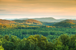 View of Mountains and Forests in Late Evening Light from Huckle Hill Property, Bernardston, MA