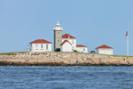 Watch Hill Lighthouse, View from Block Island Sound, Watch Hill, Westerly, RI