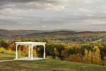 View of Arbor with Fall Foliage at Huckle Hill, Bernardston, MA