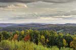 View of Mountains and Forests with Colorful Fall Foliage from Huckle Hill, Bernardston, MA