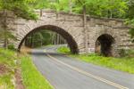 Carriage Road Stone Bridge in Acadia National Park, Mount Desert Island, Mount Desert, ME