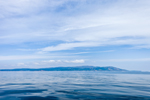 Cadillac Mountain and Mount Champlain in Acadia National Park, View from Gulf of Maine, Atlantic Ocean South of Mount Desert Island, ME