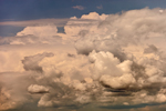 Thunderhead Clouds on Summer Day over Toothacher Bay, near Swans Island, ME