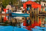 Loading up at Red Bait House at Kent's Wharf in Early Morning, Burnt Coat Harbor, Swans Island, ME