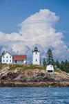 Thunderheads Clouds over Burnt Coat Harbor Lighthouse on Hockamock Head, Swans Island, ME