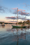 Late Evening Light on Boats in York Harbor, York, ME