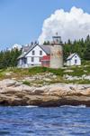 Whitehead Lighthouse at Muscle Ridge Channel, Whitehead Island, Saint George, ME