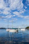 Sailboats in Anchorage at Jewell Island, Casco Bay Region, Cumberland and Portland, ME