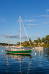 Early Evening Light on Sailboats in York Harbor, York, ME