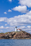 Nubble Light (Cape Neddick Light,) View from Atlantic Ocean, Cape Neddick, York, ME