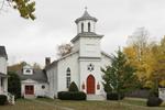 Lakeville United Methodist Church in Autumn, Village of Lakeville, Salisbury, CT