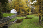 English Neighborhood Brook in Autumn, Village of North Woodstock, Woodstock, CT