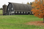 Big Barn on Highfield Farm in Fall, Established 1790, Sharon, CT