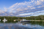 Motor Boats at Sunset on Lake Tashmoo, Martha's Vineyard, Tisbury, MA