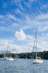Dramatic Cloud Formations over Boats in Lake Tashmoo on Summer Day, Martha's Vineyard, Tisbury, MA