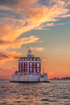Sunset at New London Ledge Light, Long Island Sound, New London, CT