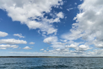 Fair Weather Cumulus Clouds over Block Island Sound, Offshore from Charlestown, RI
