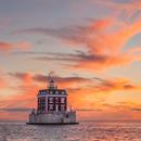 Sunset at New London Ledge Light, Long Island Sound, New London, CT