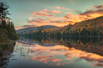 Sunset at Balfour Lake Forest Preserve in Autumn, Adirondack Park, Minerva, NY