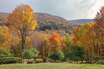 Catskill Mountains in Fall Colors, Catskill Park near Hamlet of Big Indian, Shandaken, NY