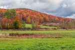 Fields and Catskill Mountains in Fall, Catskill Park near Grant Mills, Middletown, NY