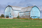 Old, Weathered Blue Barn, Greenwood, NY