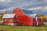 Big Red Barn in Fall, Steuben County, Jasper, NY