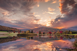 Sunrise at Quaker Lake on Allegheny Reservoir on Allegheny River, Allegany State Park, Elko, near Salamanca, NY