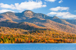 Lewey, Snowy, and Squaw Mountains in Fall, View from Lewey Lake, Adirondack State Park, Lake Pleasant, NY
