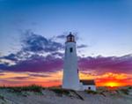 Sunrise at Great Point Lighthouse, Nantucket National Wildlife Refuge, Nantucket, MA