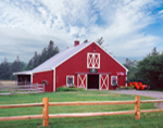 Red Barn at Hickory Hill Farm, Mt. Desert Island, Mt. Desert, ME