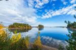 Calm Fall Morning at Wachusett Reservoir, Boylston, MA
