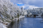 Railroad Bridge over Millers River after Heavy Snowfall, Orange and Wendell, MA