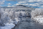 Millers River and Snow-covered Wendell State Forest, View from Wendell Depot, Wendell, MA