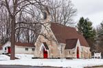 St. Thomas Episcopal Church in Winter, Village of Amenia Union, Amenia, NY