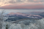 Predawn Light over Green Mountains in Winter, Green Mountain National Forest, View from Wilmington, VT
