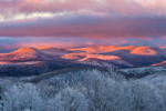 Sunrise over Green Mountains in Winter, Green Mountain National Forest, View from Wilmington, VT