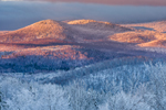 Early Morning Light over Green Mountains in Winter, Green Mountain National Forest, View from Wilmington, VT
